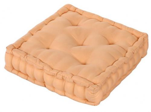 PLAIN BEIGE COLOUR MICROFIBRE DINING / GARDEN CHAIR BOOSTER CUSHION SEAT PAD